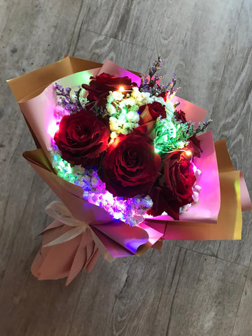 Sheera The Roses with lights bouquet