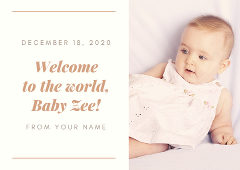 WELCOME TO THE WORLD - GREETING CARD | Amy's Cart Singapore