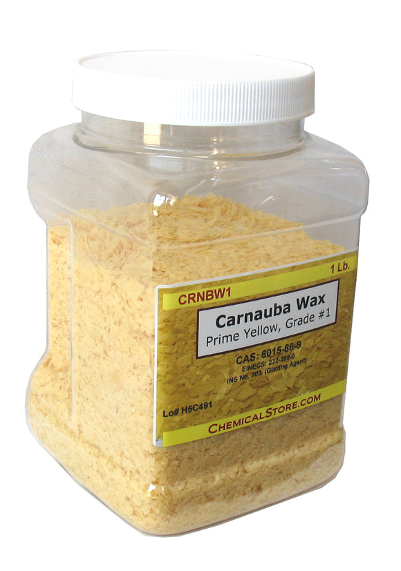 Carnauba Wax Flakes #1, Prime Yellow