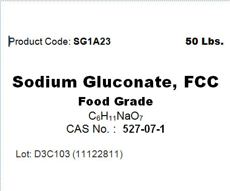 Sodium Gluconate, FCC, 99.9%