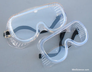 Safety Goggles, flexible perforated frame