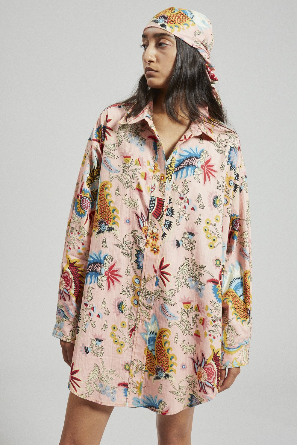 Rachel Comey - Isa Shirt (Peach Tapestry Floral)