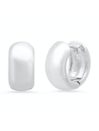 Tai - Chunky Mini Huggie Earrings (Silver)