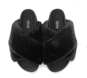 Roam Wears - Mini-Cloud Black Slippers