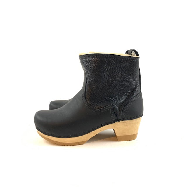 "No. 6 - 5"" Pull On Shearling Clog Boot on Mid Heel"