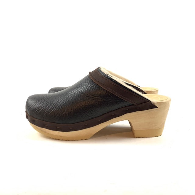 No. 6 - Dakota Shearling Clog Mid Heel