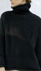 Micaela Greg - Roll Neck Seed Sweater (faded Black)