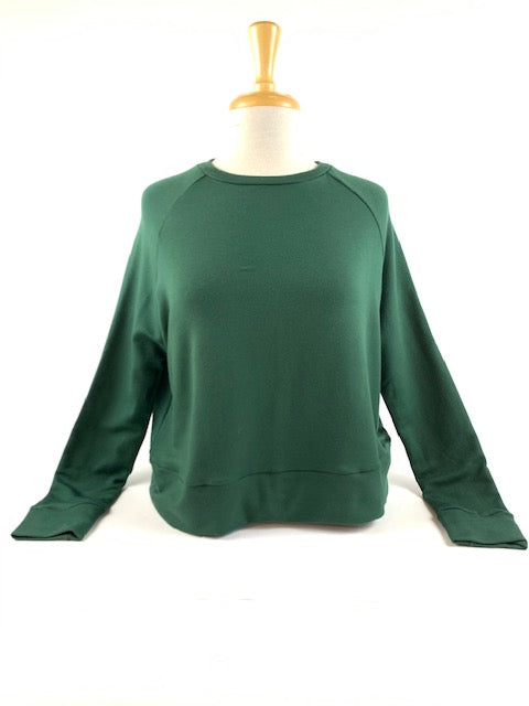 Corinne Collection - Cuffed Cox Sweater (pine)