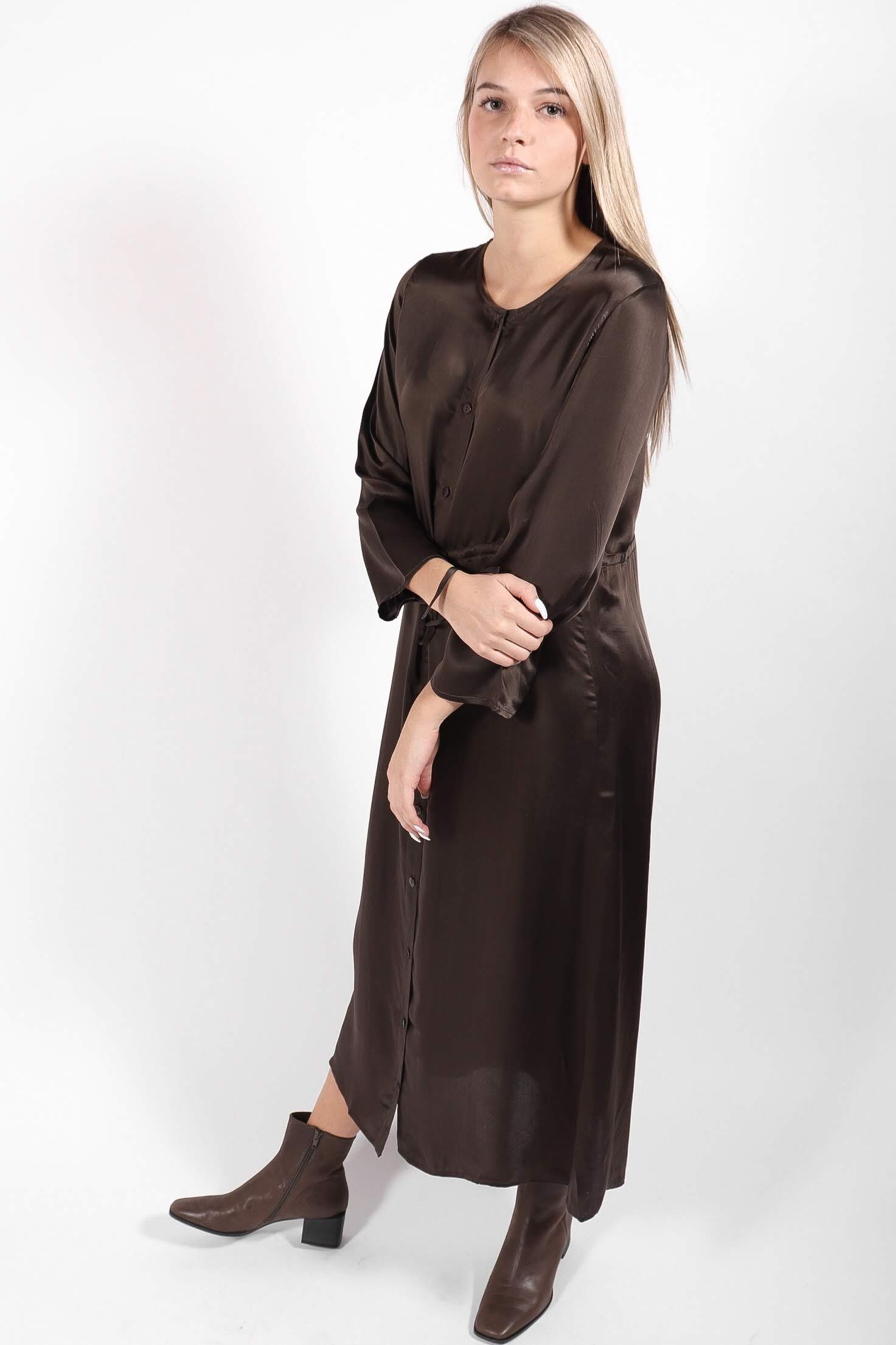 Ali Golden - LS Button Down Maxi Dress