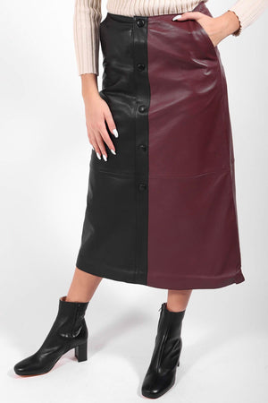 Stand Studio - Nata Skirt (Black/Plum)