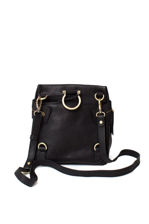 Sapahn - Pepper Leather Crossbody Convertible Backpack