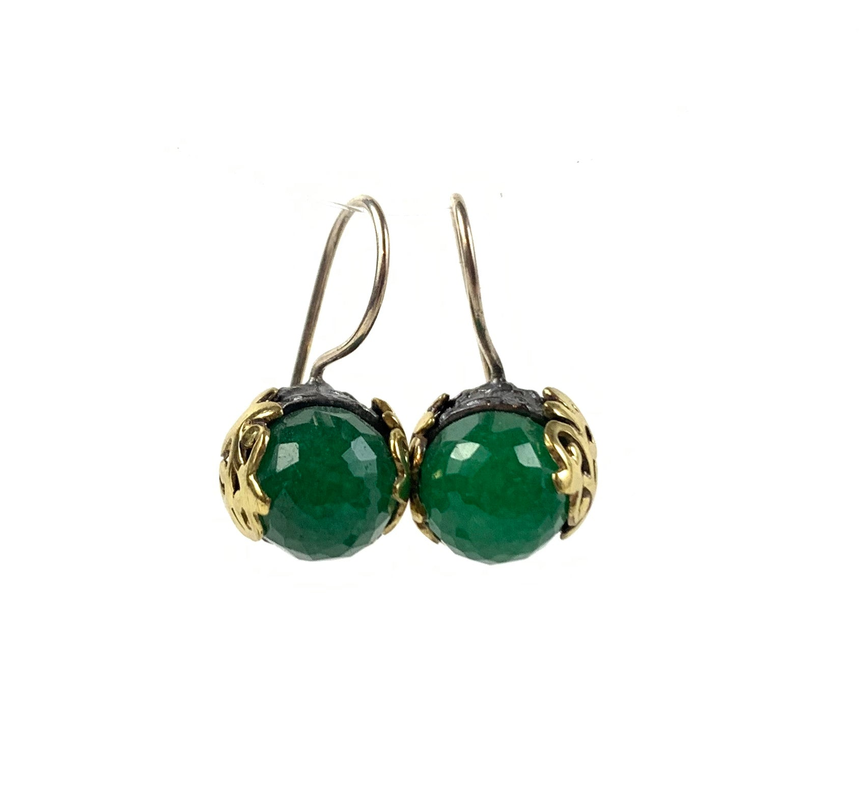 Bora - Indian Emerald Filigree Earring