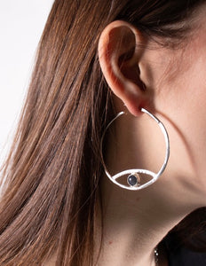 Fade Into The Abstract - Iris Moon Earring