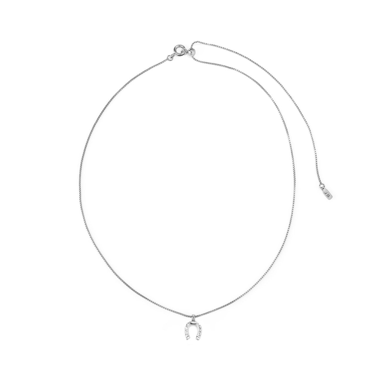 Jenny Bird - Horseshoe Charm Necklace (Silver)