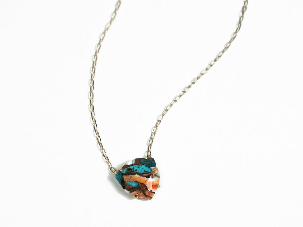 Sara Golden - Halcott Necklace (Turquoise)