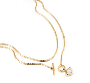 Jenny Bird -  Veaux Wrap Necklace (Gold)