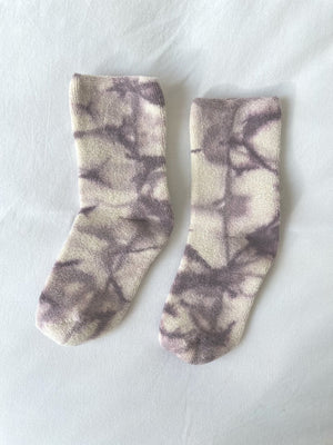 Le Bon Shoppe - Tie Dye Cloud Socks (Mauve)