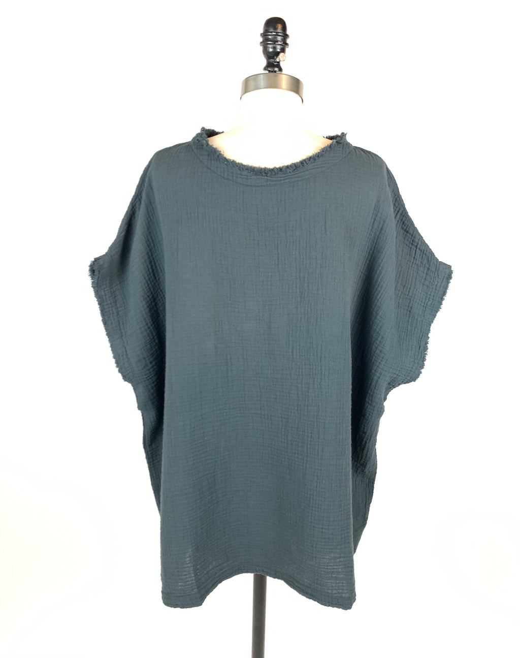 Black Crane - Gauze Top (Faded Black)