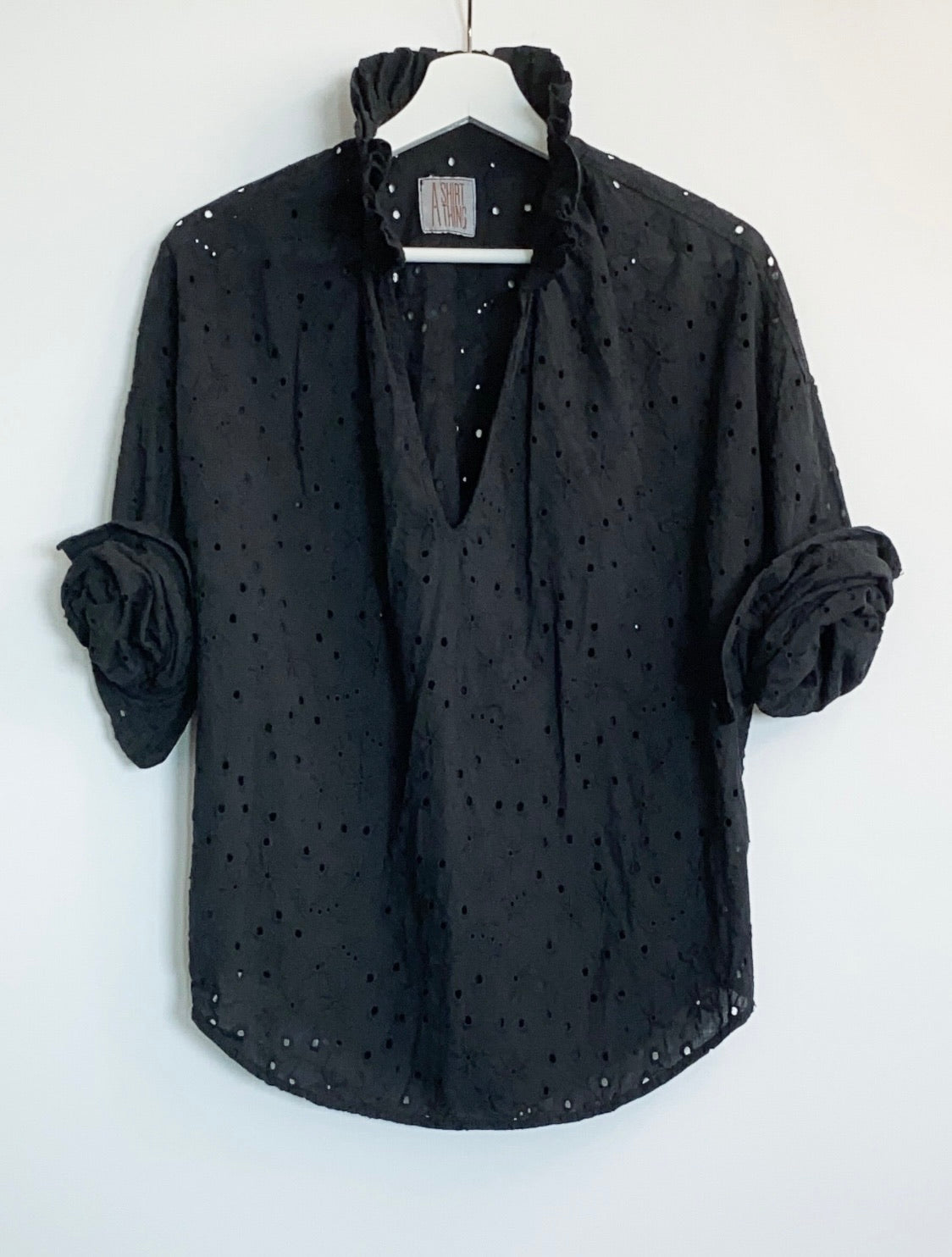 A Shirt Thing - Penelope Eyelet (Black)