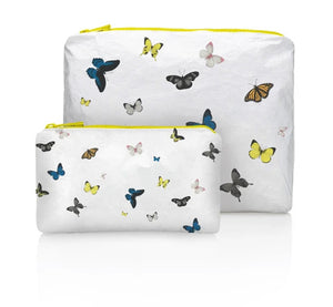 HiLove - Two Piece Travel Set (butterflies on white)