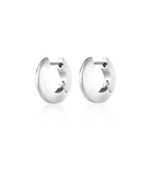 Jenny Bird - Toni Hinged Hoop Earrings - Small (silver)