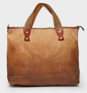 Vive La Difference - Tote Dots (Saddle Brown)