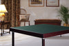 Club card table with mahogany finish and green felt surface