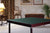 Club card table with mahogany finish and green felt surface - SMALL SCRATCH ON FRAME