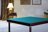 Finesse card table with mahogany finish and baize playing surface - SMALL DENT ON WOOD SURROUND