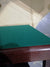 Premier card table with mahogany finish and green baize - SLIGHTLY PUCKERED BAIZE