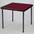 Pelissier Premier card table with mahogany finish and burgundy baize