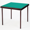 Premier card table with mahogany finish and green baize - MINOR IMPERFECTIONS ON WOOD FINISH