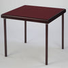 Premier card table with mahogany finish and burgundy baize