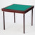 Royal card table with mahogany finish and green baize - SLIGHTLY UNEVEN WOOD STAIN
