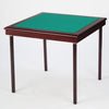 Royal card table with mahogany finish and green baize