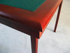 Royal card table with mahogany finish and green baize - MINOR IMPERFECTIONS ON WOOD FINISH