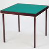 Finesse card table with mahogany finish and baize playing surface - SMALL IMPERFECTIONS ON WOOD STAIN