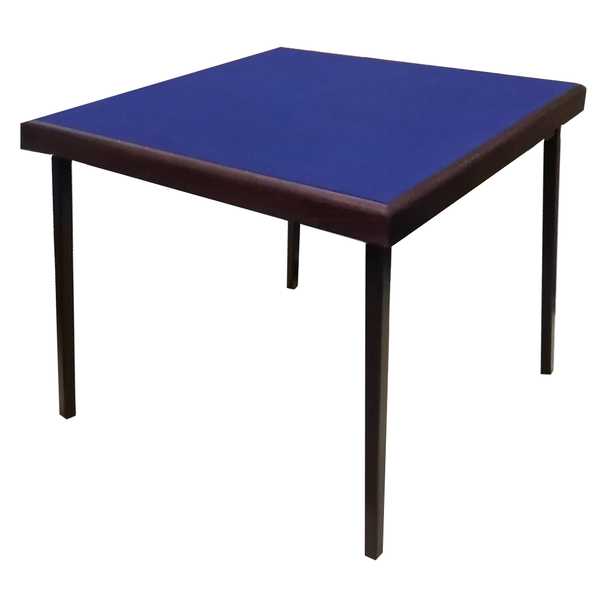 Finesse Card Table with mahogany finish and blue baize - SPECIAL OFFER