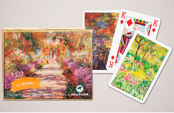 Piatnik Playing Cards - Monet Gallery - Giverny, double deck