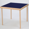 Premier card table with natural beech finish and blue baize