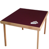 Pelissier Premier card table with natural beech finish and burgundy baize