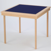Royal card table with natural beech finish and blue baize - SLIGHT DENT ON WOOD SURROUND