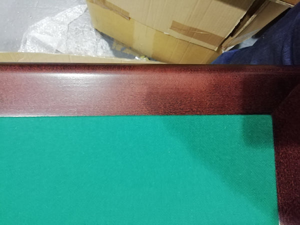 Royal card table with mahogany finish and green baize - SLIGHTLY IMPERFECT CORNER JOINT