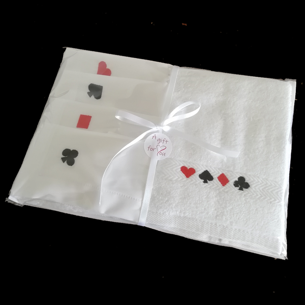 Bridge Themed Napkin and Guest Towel Set