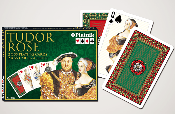 Piatnik Playing Cards - Tudor Rose, double deck