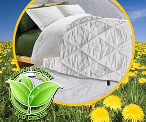 Golden Diamond Eco Green Blanket