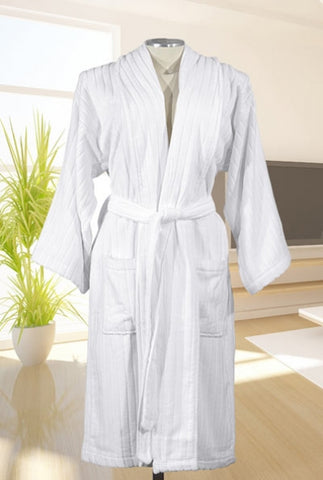 Terry Velour Sculpted Stripe Robe