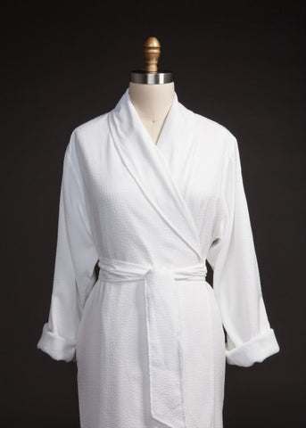 Double Layer Seersucker Robe