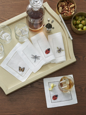 NEW Insetti Cocktail Napkins by Sferra