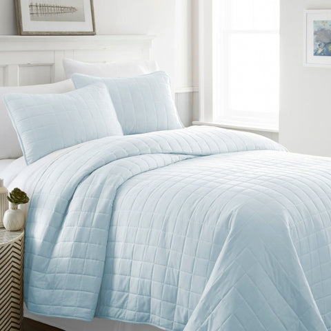 Square Quilted Microfiber Coverlet Set